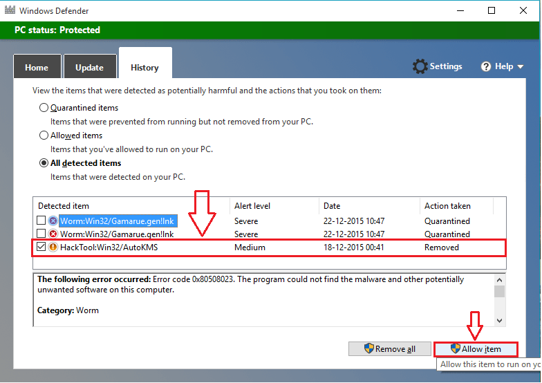 Solved! Download failed, Virus Detected Message in Windows 10