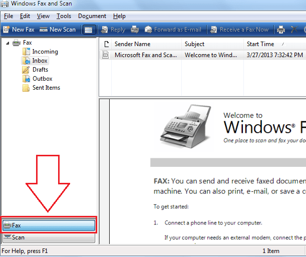 Windows Fax And Scan Not Working