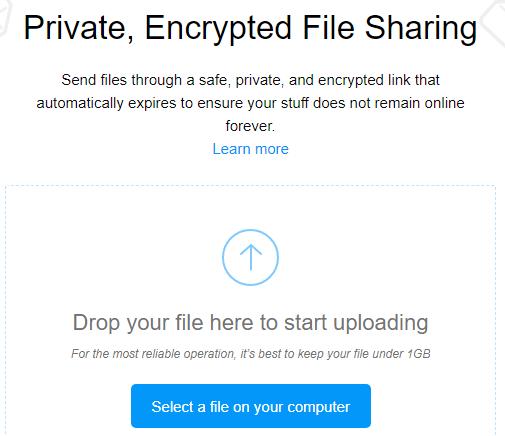 Firefox Send File Sharing
