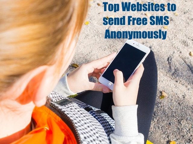 Top websites to send free sms Anonymously