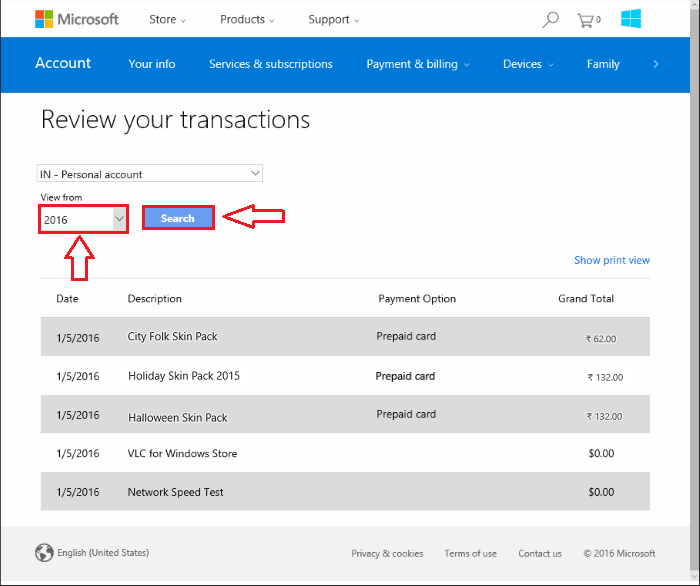 How to View the Windows Store Purchase History
