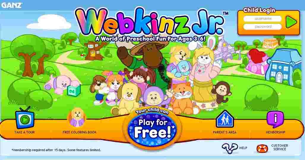 www.webkinzjr.com