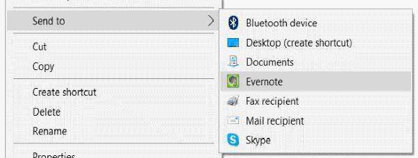 Add Compressed(zipped) Folder option in Send To menu in