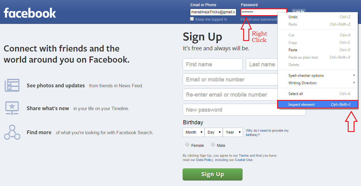 How To View Hidden Facebook Password On Your Browser