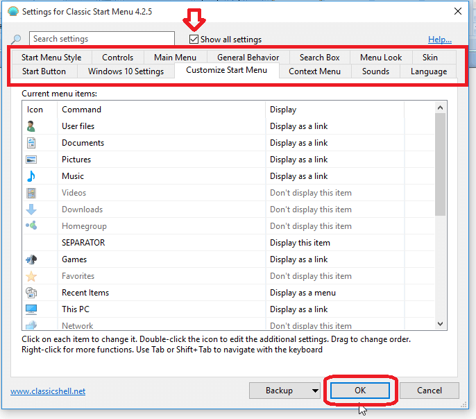 how to make windows search bar grey