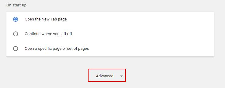 Advacned Settings Chrome