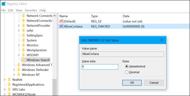 Disable Cortana Windows 10 1