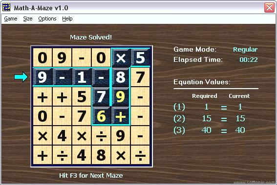 Printables Multi Operational Mathematical Maze top 30 best free math software you can use a maze lets learn mathematics through game where have to make your way the that consists of numbers and mathematical