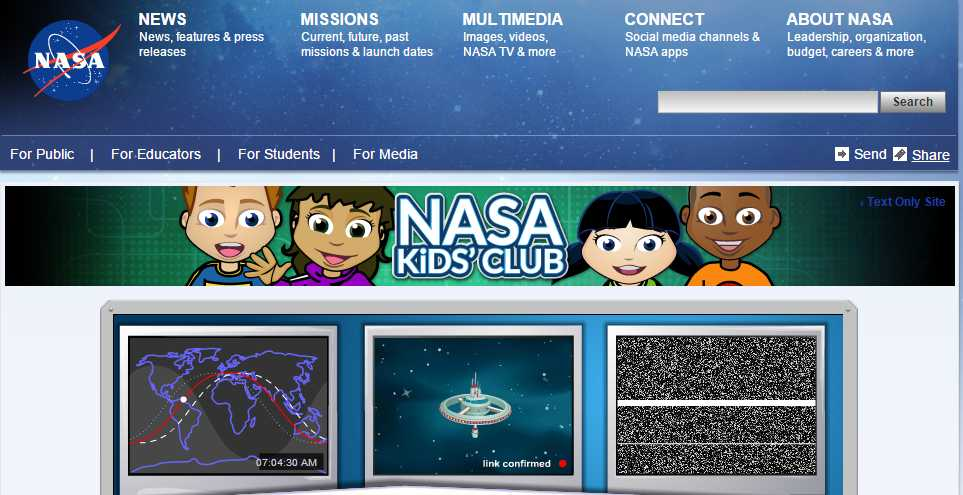nasa-kids-learning-site