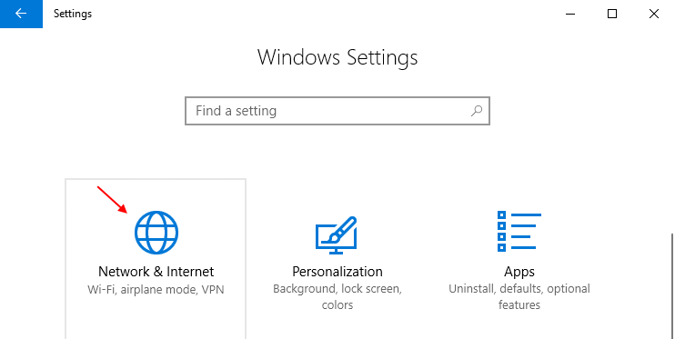 Network Internet Windows 10 Settings