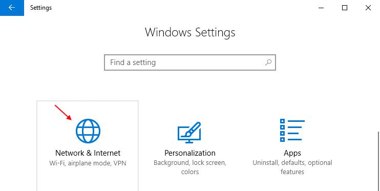 Network Internet Windows 10 Settings