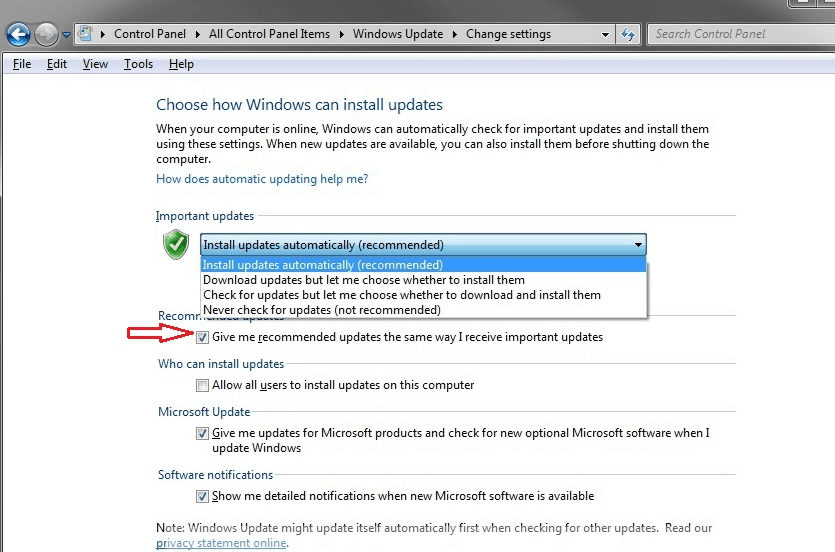 Prevent Windows 10 Recommended Update Notice in windows 7/8 1