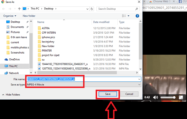 FB video downloader step 4