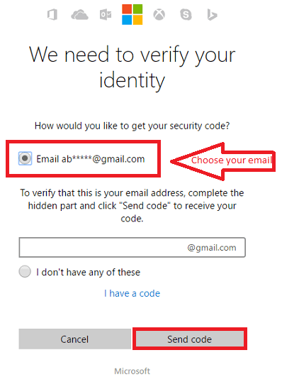 Sending verification code