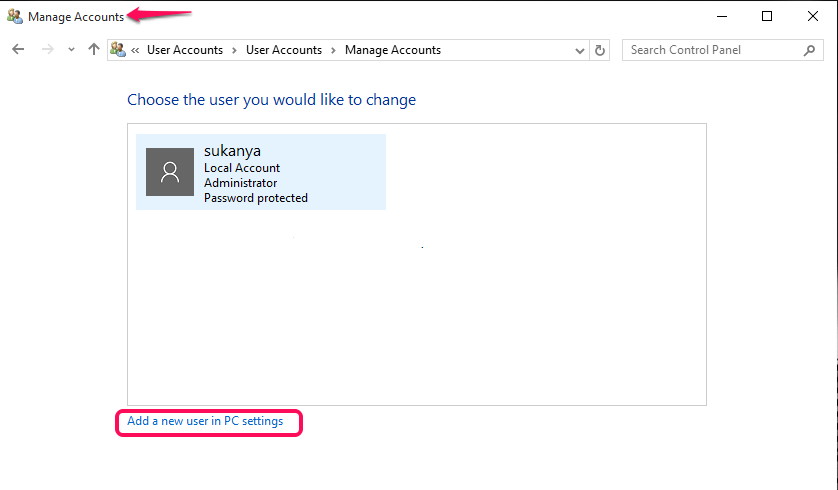 adding new user