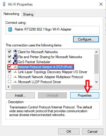 change properties in IPv4