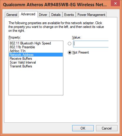 change network address