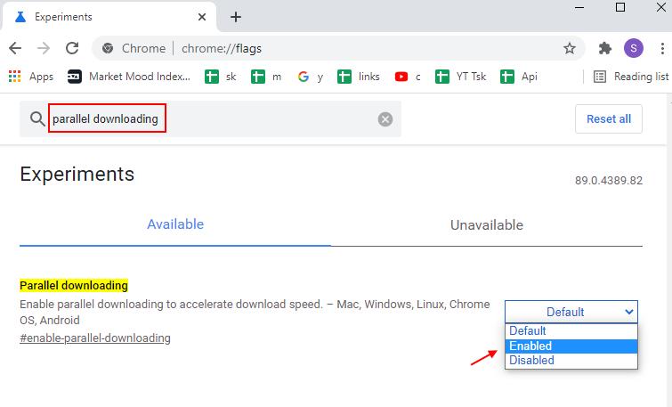 Chrome Parellal Downloading