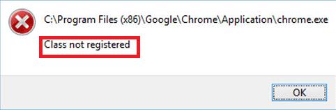 class not registered error