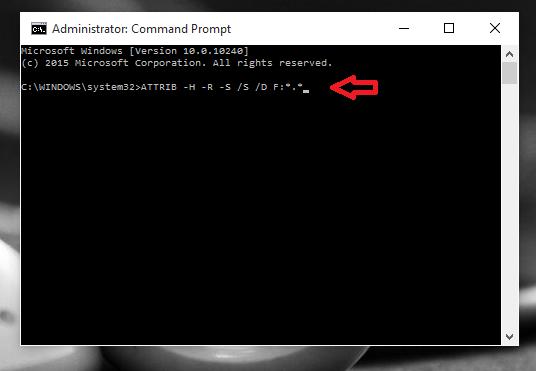 command for resolving virus