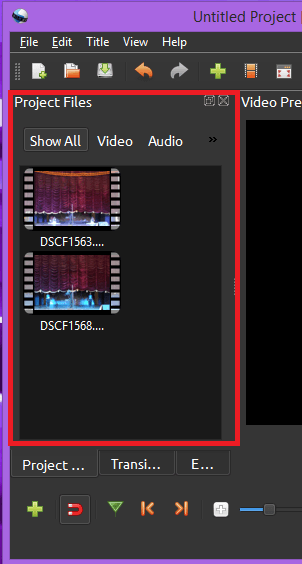 Display imported files