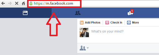 downloading videos from FB step 1