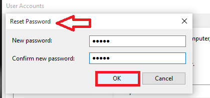 entering new password here