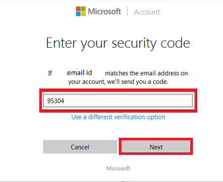 entering security code