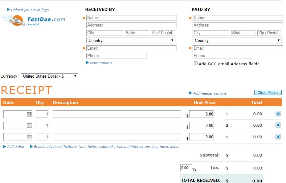 Fast Due Invoice Maker Online Min