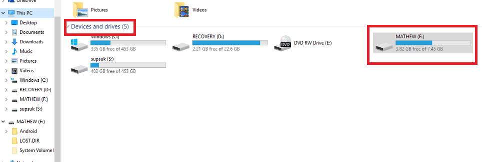 formating pen drive step 1