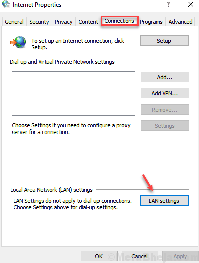 Lan Settings Min