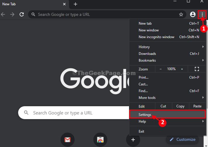 New Chrome Settings]
