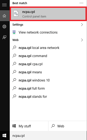 open netwrk connections