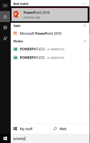 open powerpoint