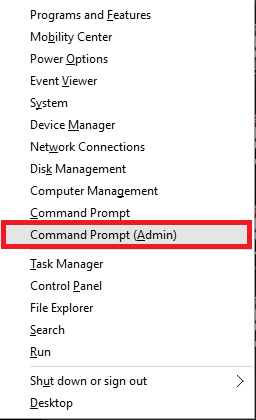 opening cmd admin mode