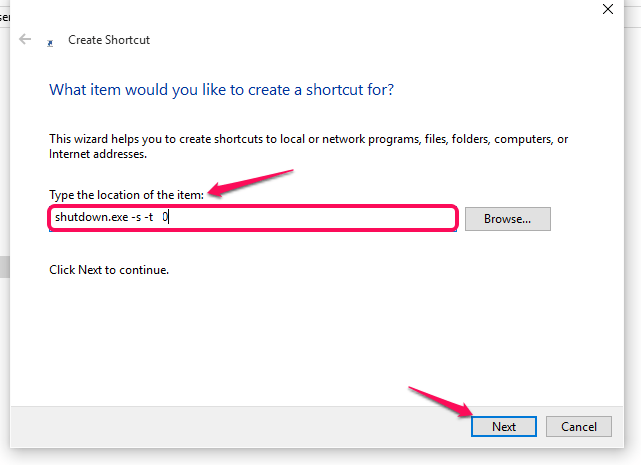 shortcut-for-shutdown