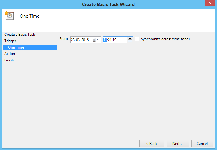 shut down using task scheduler3