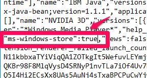 true store command