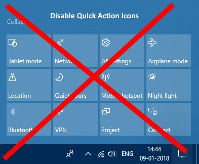 Disable Quick Action Icons