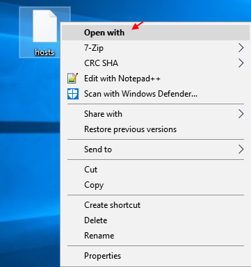 Hosts File Open With Windows 10