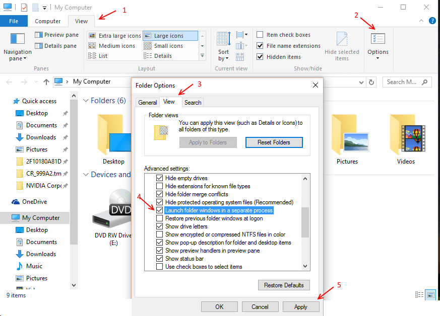 Solved : Windows 10 File explorer Crashing Problem