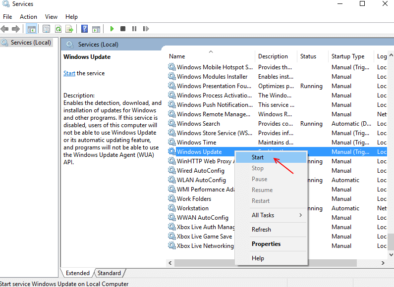 restart-windows-update-service