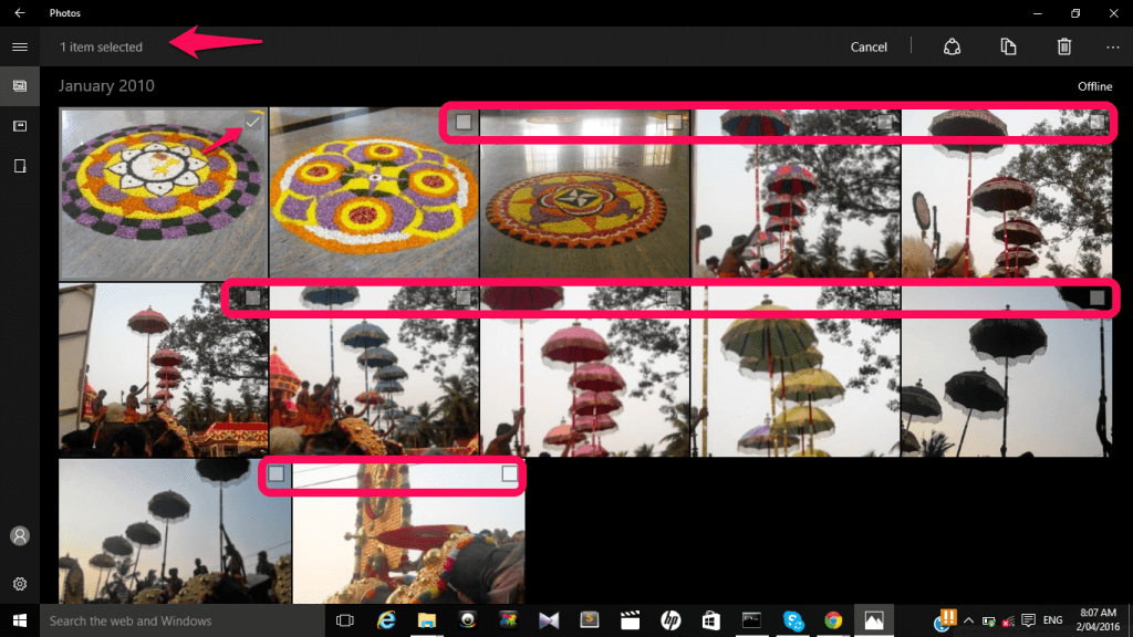 select pictures