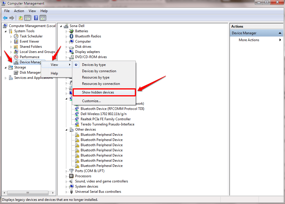 No Bluetooth In Device Manager Windows 10