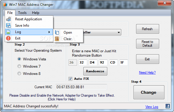 Win7-MAC-address-Changer