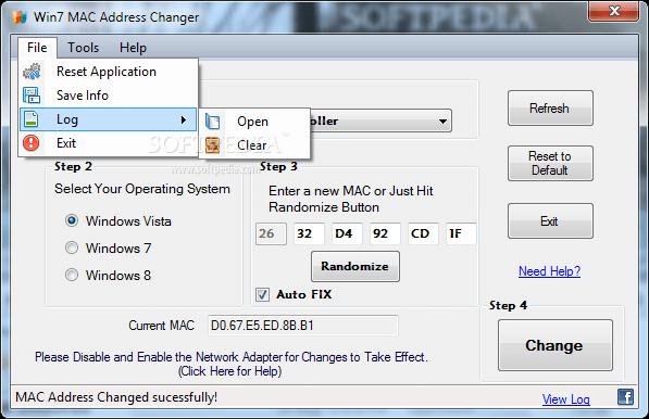 Win7-MAC-address-Changer
