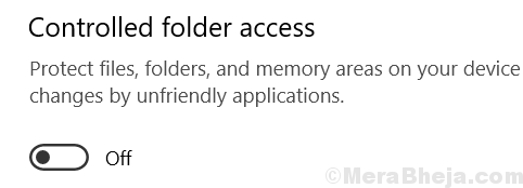 Off Controlled Folder Access Min