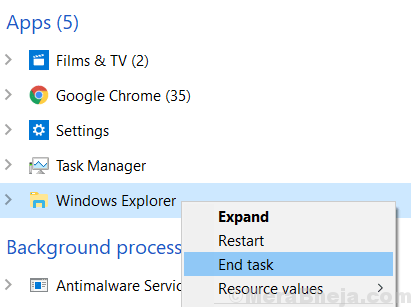 Windows Explorer End Task Min