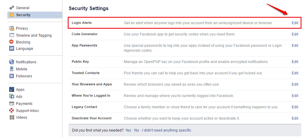How to know if someone else accessed your facebook account or not how to get email login alerts on your email ccuart Image collections