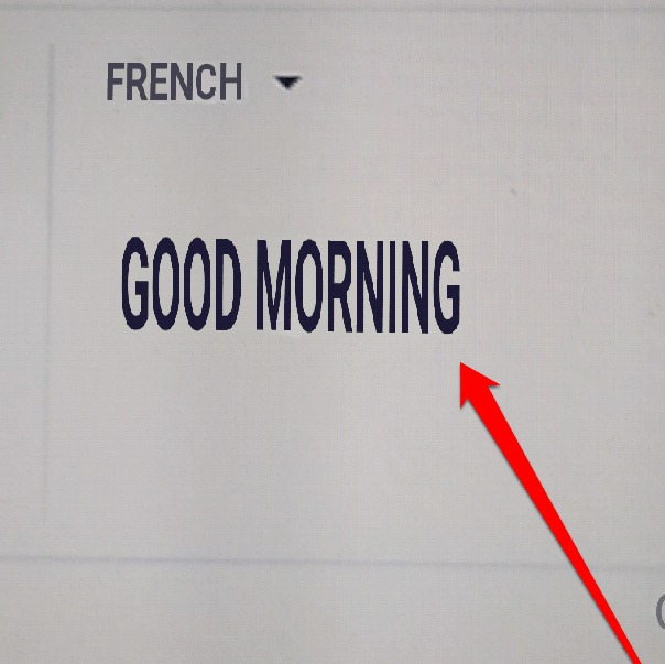 Google Good Morning In French : How to translate the text on an image using google